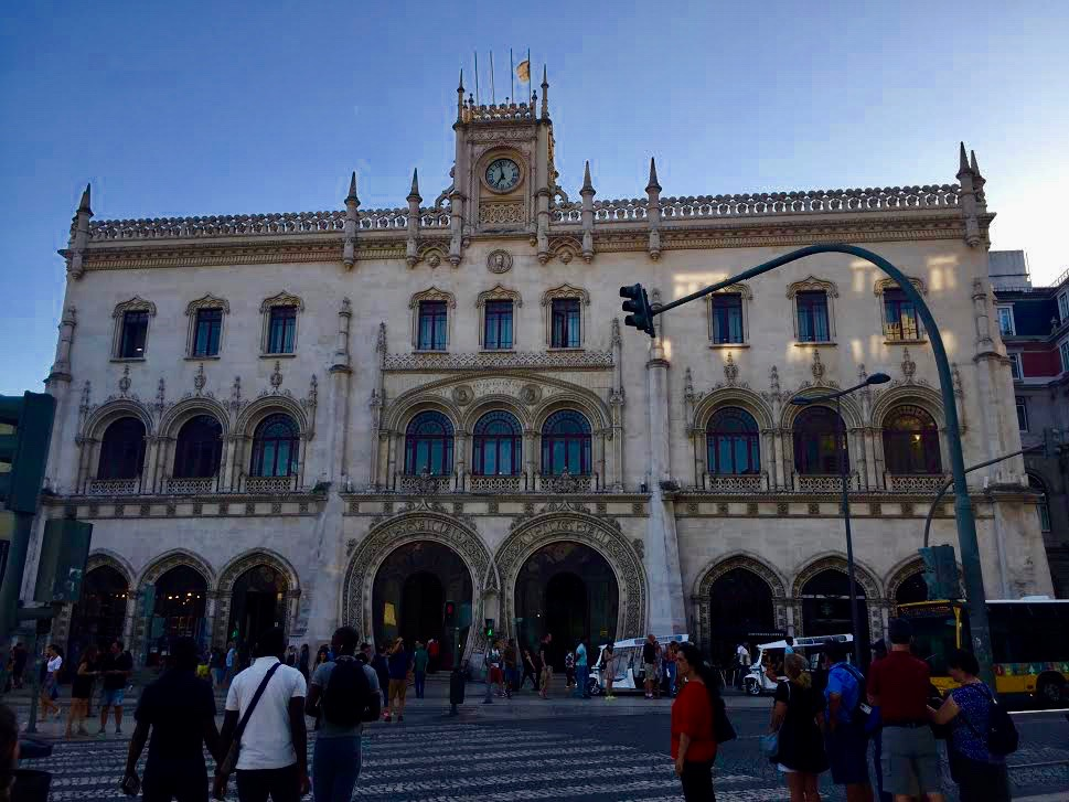 Rossio banegården i Lissabon