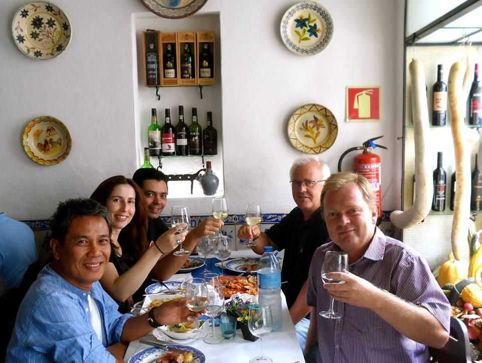 På restaurant i Evora.