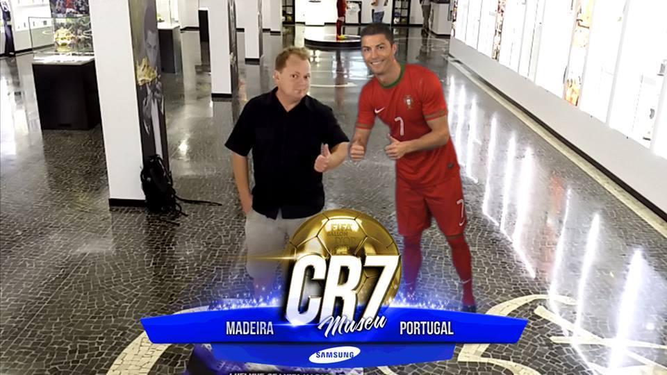 På besøg på Ronaldo museet.
