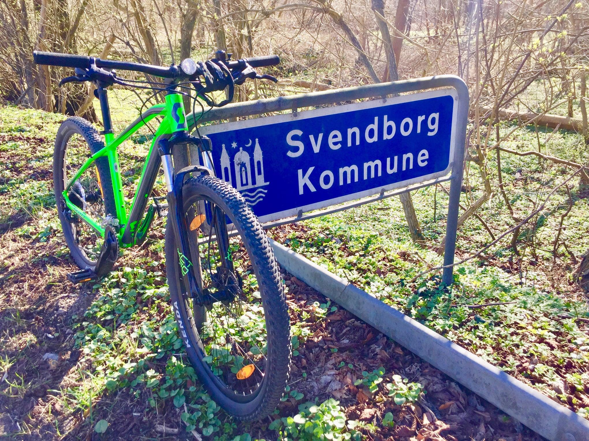 Sydfyn på cykel.