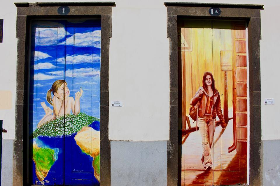 Malede døre i Funchal.