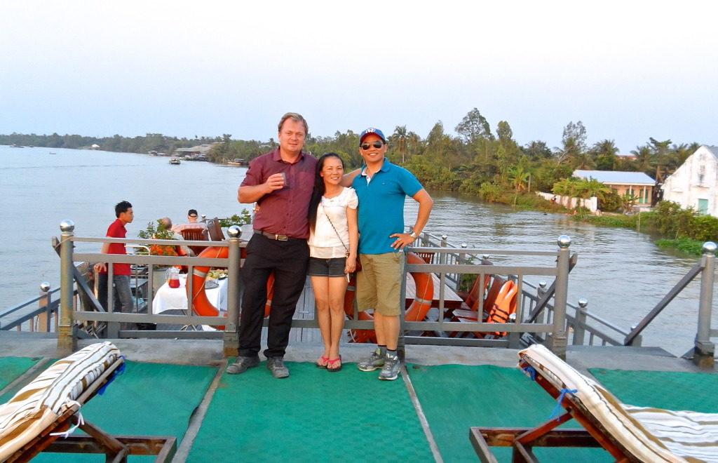 På arbejde som freelance rejseleder i Vietnam.