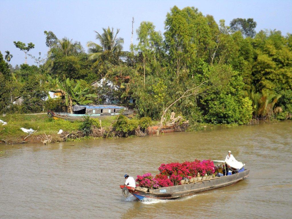 Mekong Deltaet i syd Vietnam er varmt og tørt om vinteren.