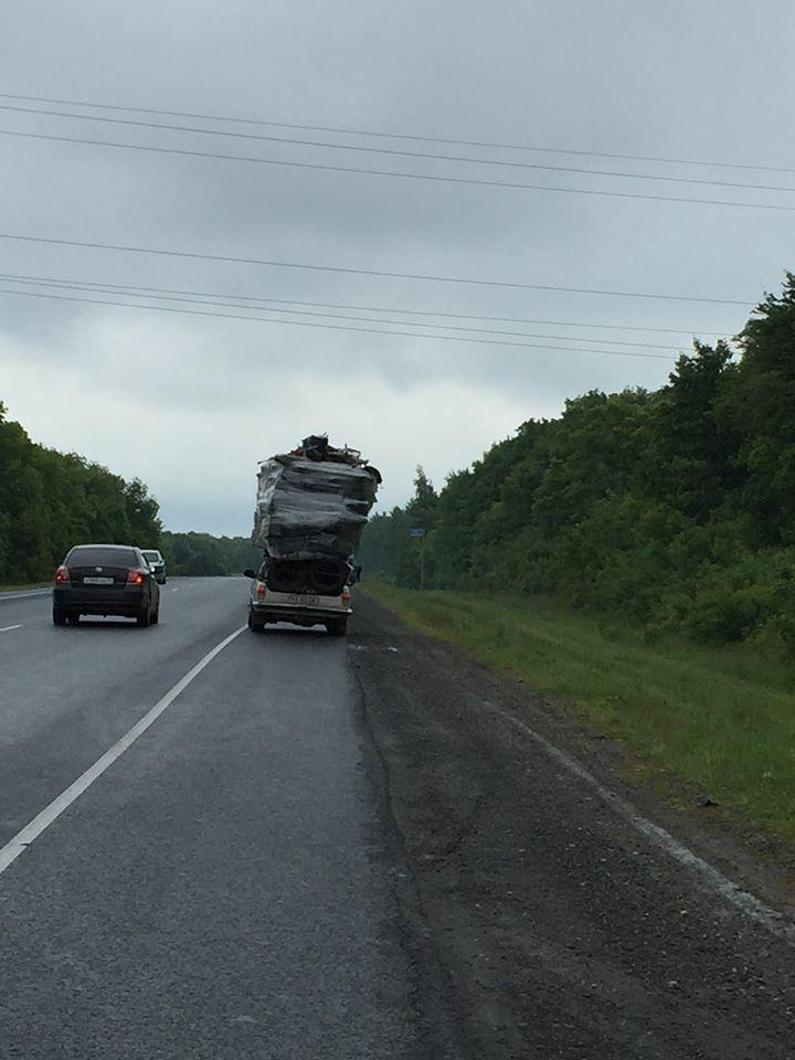 Trafikken kan godt være lidt alternativ på de russiske veje.