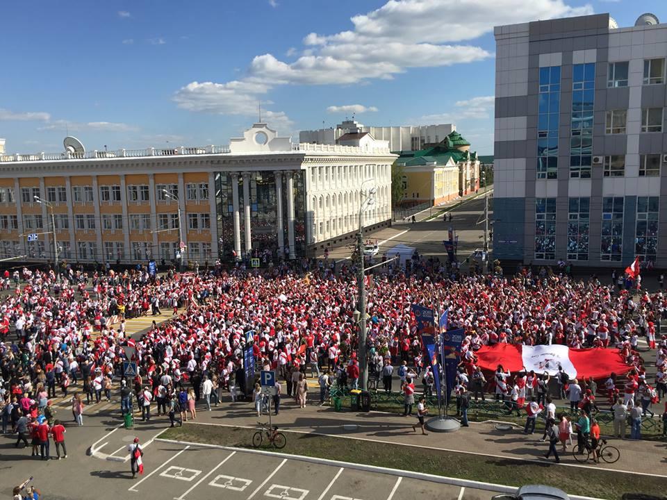 Saransk var fyldt med peruvianere under VM i Rusland.