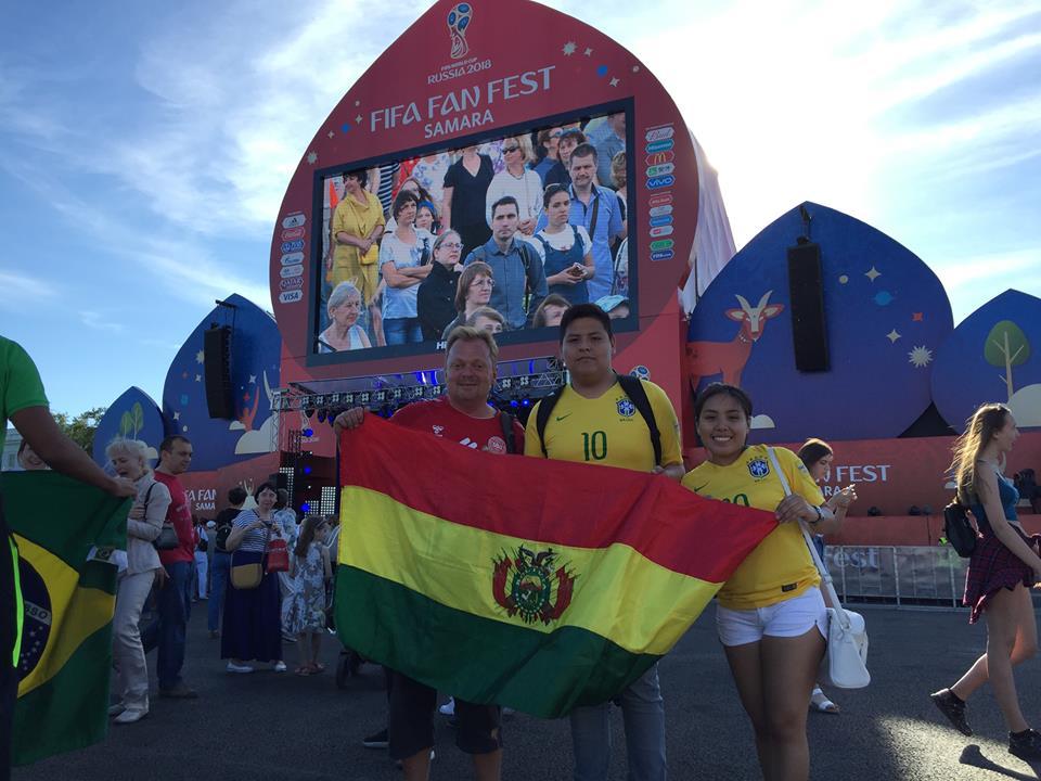 Der var også flinke bolivianske fans til VM i Rusland.