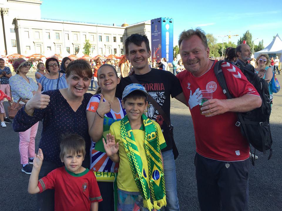 Sammen med en sympatisk russisk familie.