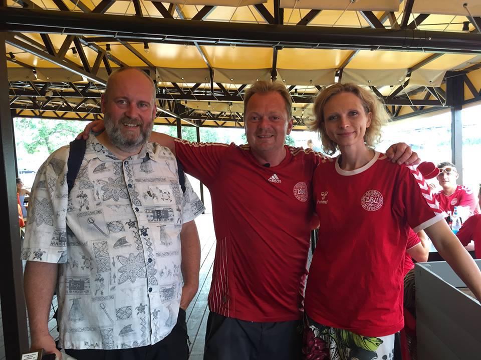 Med Matilde Kimer og hendes kamera mand Torben under VM i Rusland.