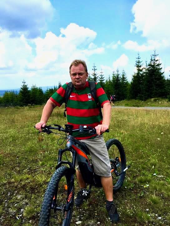 På el cykel i det sydlige Bøhmen.